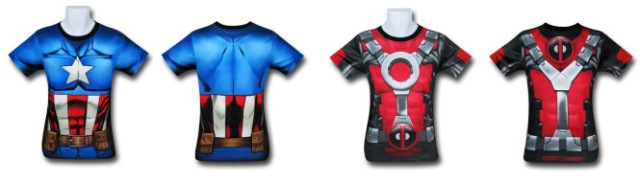 Captain America and Deadpool Gym Shirts