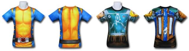 Wolverine and Boba Fett Gym Shirts